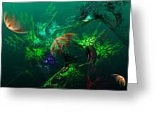 An Octopus's Garden Greeting Card by David Lane