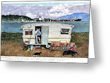 Anacortes Fuel Greeting Card by Perry Woodfin