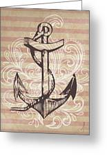 Anchor Greeting Card by Adrienne Stiles