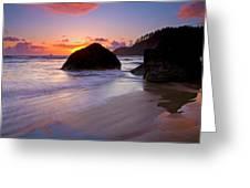 Anchoring The Beach Greeting Card by Mike  Dawson