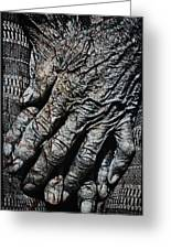 Ancient Hands Greeting Card by Skip Nall