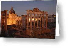 Ancient Romes Skyline At Sunset Greeting Card by Kenneth Garrett