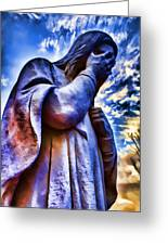 And Jesus Wept Greeting Card by Ricky Barnard