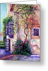 Andalucian Garden Greeting Card by Candy Mayer