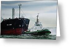 Andrew Foss Ship Assist Greeting Card by James Williamson