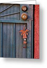 Angel At The Door Greeting Card by Carol Leigh