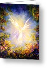 Angel Descending Greeting Card by Marina Petro