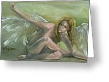 Angel Greeting Card by Dorina  Costras