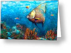 Angel Fish Greeting Card by Andrew King