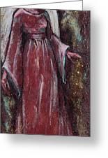 Angel Judy Greeting Card by Mary DuCharme