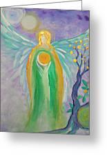 Angel Of Acceptance Greeting Card by Alma Yamazaki
