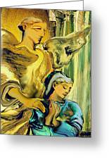 Angel Of Mercy Greeting Card by Anne Weirich