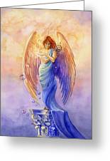 Angel Of Truth And Illusion Greeting Card by Janet Chui