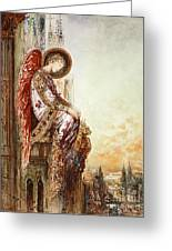Angel Traveller Greeting Card by Gustave Moreau