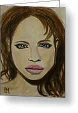 Angelina Jolie Greeting Card by Pete Maier