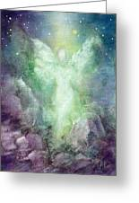 Angels Journey Greeting Card by Marina Petro