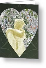 Angels Of The Snow  C Greeting Card by Debra     Vatalaro