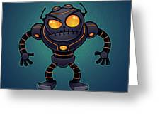Angry Robot Greeting Card by John Schwegel