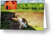 Animal - Cat - The Mouser Greeting Card by Mike Savad