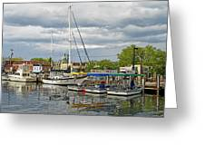 Annapolis Maryland City Dock Ego Alley Greeting Card by Brendan Reals