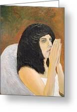 Annolita Praying Greeting Card by J Bauer