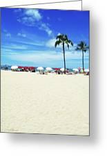 Another Beautiful Day In Waikiki Greeting Card by Kerri Ligatich