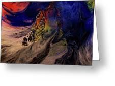 Another Planet Greeting Card by Wayne Vander Jagt