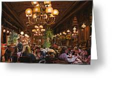 Antica Brasserie Greeting Card by Guido Borelli