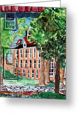 Antioch Yellow Springs Ohio Mural Greeting Card by Mindy Newman