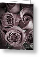Antique Roses Greeting Card by Edward Fielding