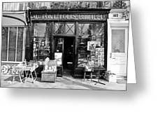 Antique Shop Paris France Greeting Card by Gerry Walden