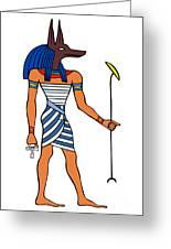 Anubis Greeting Card by Michal Boubin