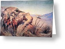 Apache Ambush Greeting Card by Frederic Remington