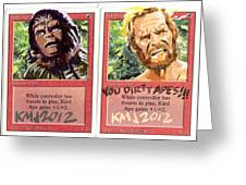 Apes Is Apes Greeting Card by Ken Meyer jr