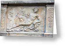 Apollo Relief In Gdansk Greeting Card by Artur Bogacki