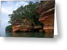 Apostle Islands National Lakeshore Greeting Card by Larry Ricker