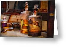 Apothecary - Magic Elixir Greeting Card by Mike Savad