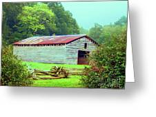 Appalachian Livestock Barn Greeting Card by Desiree Paquette