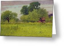 Apple Orchard Greeting Card by George Snr Inness