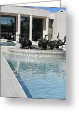 Appleton Reflection Pool Greeting Card by Warren Thompson