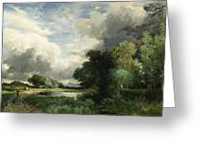 Approaching Storm Clouds Greeting Card by Thomas Moran