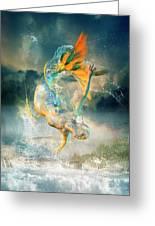 Aquatica Greeting Card by Karen K