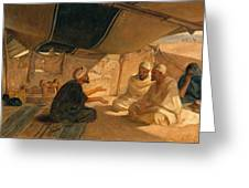 Arabs In The Desert Greeting Card by Frederick Goodall