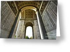 Arc De Triomphe Paris Greeting Card by Charuhas Images