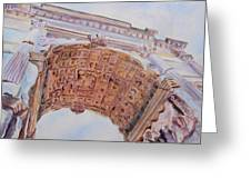 Arch Of Titus One Greeting Card by Jenny Armitage