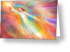 Archangel Jophiel Illuminating The Ethers Greeting Card by Glenyss Bourne