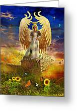 Archangel Uriel Greeting Card by Steve Roberts