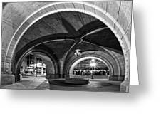 Arched In Black And White Greeting Card by CJ Schmit