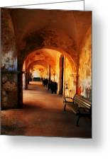 Arched Spanish Hall Greeting Card by Perry Webster