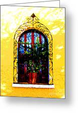 Arched Window By Darian Day Greeting Card by Olden Mexico